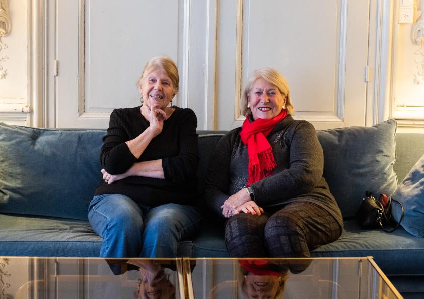 Anne-Françoise et sa sœur Claire, clientes Téléassistance Médaillon Ulysse